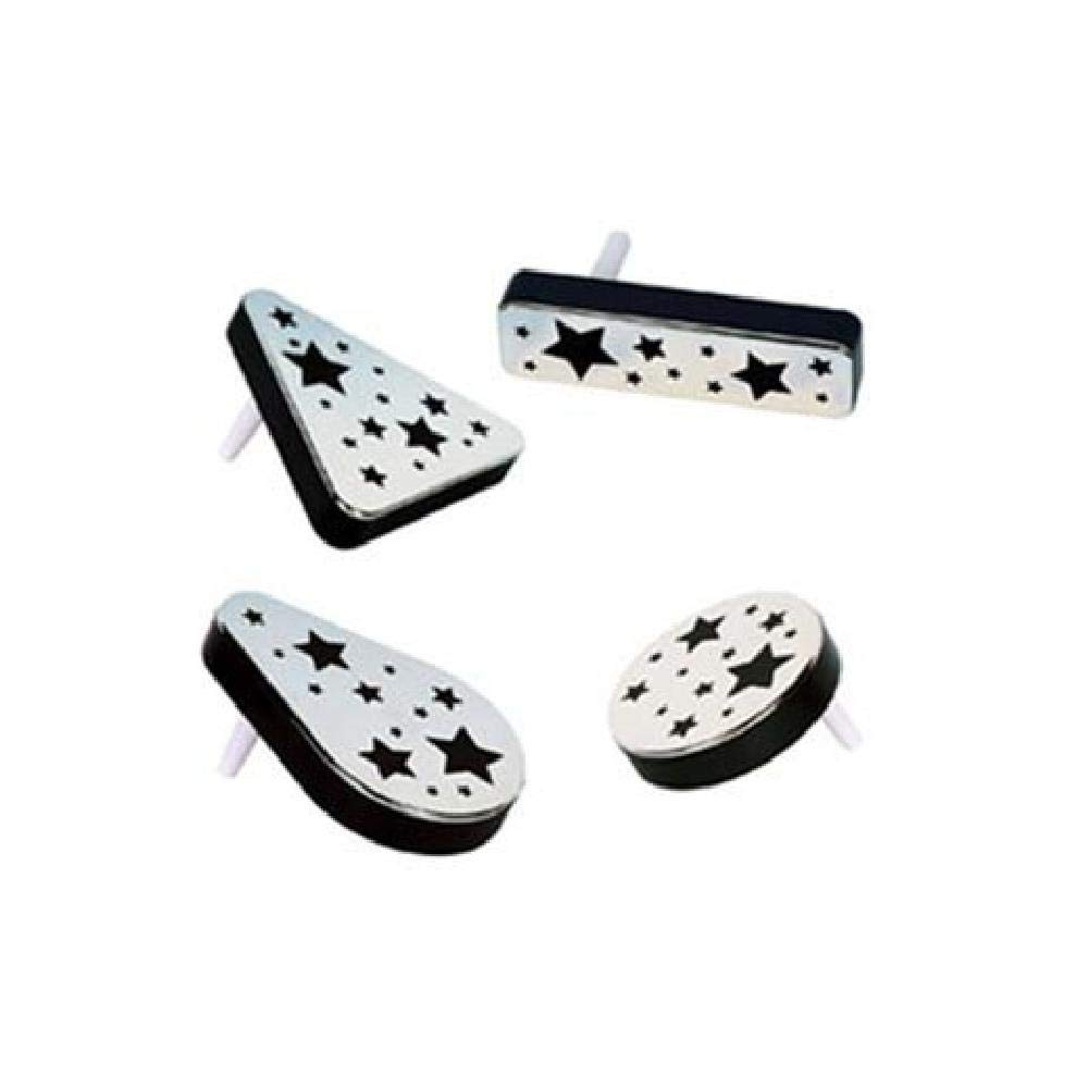 Bargain World Black and Silver Plastic Metallic Noisemakers - Pack of 20 (with Sticky Notes)