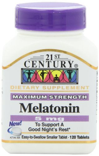 Amazon.com: 21st Century Melatonin 5 mg Tablets, 120-Count by 21st ...