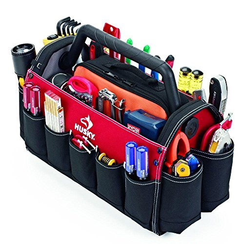 Husky 17in. Open Tool Tote w/ Rotating Handle by Husky