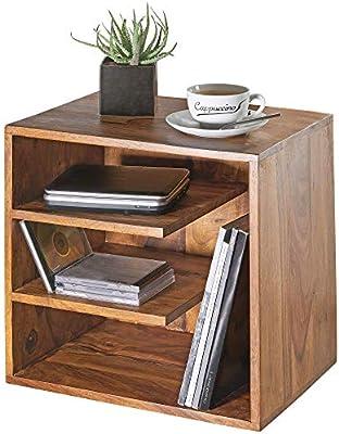 Wohnling mesa auxiliar surnar 43 x 43 x 30 cm Diseño de madera ...