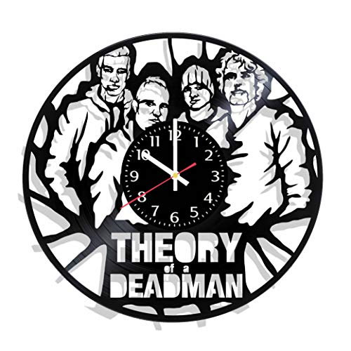 BombStudio Theory of a Deadman Vinyl Record Wall Clock, Theory of a Deadman Handmade for Kitchen, Office, Bedroom. Theory of a Deadman Ideal Wall Poster -