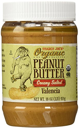 (Trader Joe's Organic Peanut Butter Creamy and Salted, 1 lb)