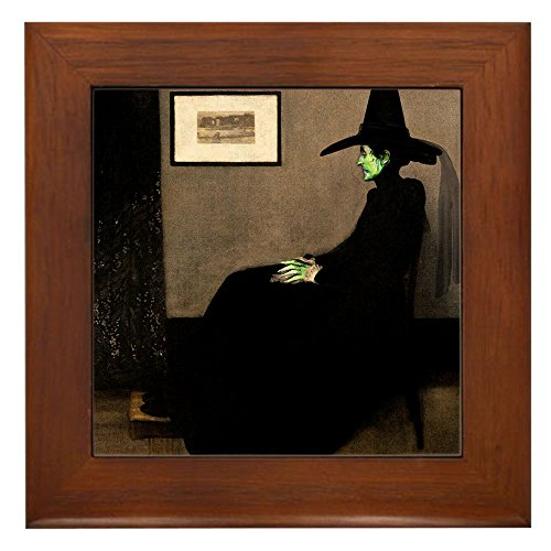 CafePress - Whistler's Wicked Witch Framed Tile - Framed Tile, Decorative Tile Wall Hanging (Halloween Witch Quotes)