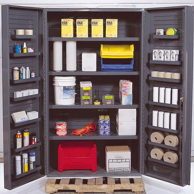 Quantum Storage Systems QSC-4IS-14DS Gray Jumbo Welded Storage and Security Cabinet, 48