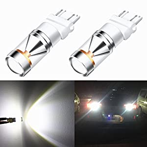 Alla Lighting Extremely Super Bright 30W Genuine CREE SMD High Power 6000K Xenon White 3157 3156 4114 3057 LED Bulb for Daytime Running Light Bulbs Lamps Replacement