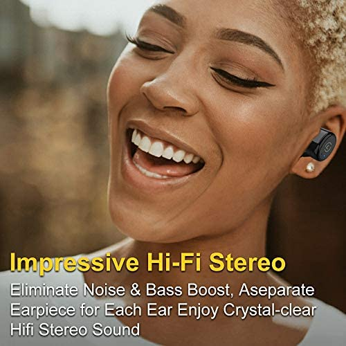 Ankbit True Wireless Bluetooth Earbuds, Upgraded Bluetooth 5.0 Sport Sports TWS Stereo Headphones in Ear Build in Mic IPX6 Waterproof for Workout, Running 51ZOq2JNd 2BL