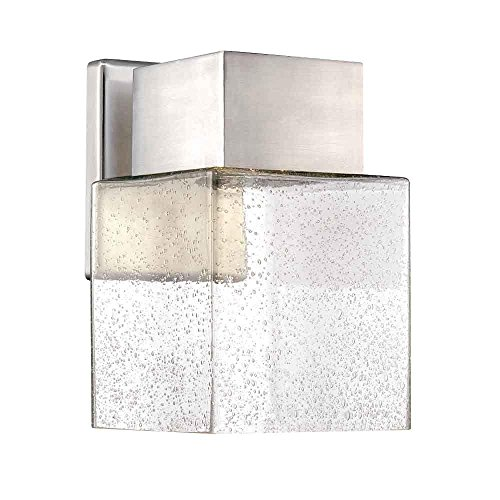 Brushed Nickel Decorator (Home Decorators Collection Essex Brushed Nickel Outdoor LED Powered Wall Lantern)