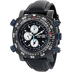 Yema Men's YMHF0102 Master Elements Analog Display Analog Quartz Black Watch