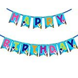 Party Supplies for Baby Shark Happy Birthday Banner Party Supplies for Kids and Adults Birthday Party Decorations