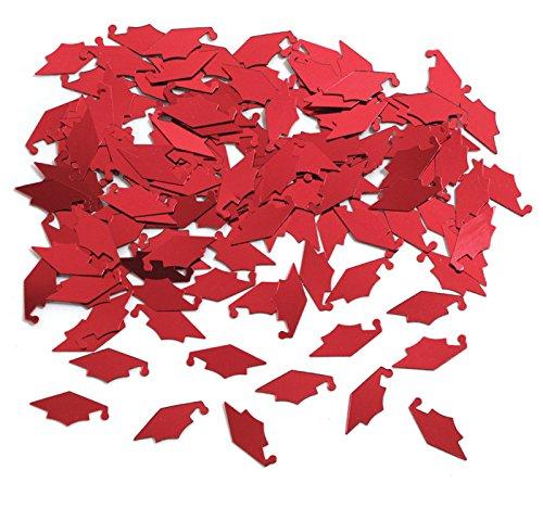- Creative Converting Graduation Caps Confetti, Red