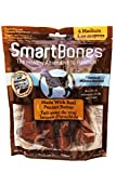 SmartBones SBPB-02626FL Peanut Butter Bones for Dogs, 4-Count, Medium