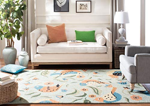 Safavieh Blossom Collection BLM676A Handmade Sage and Multi Premium Wool Area Rug 8 x 10