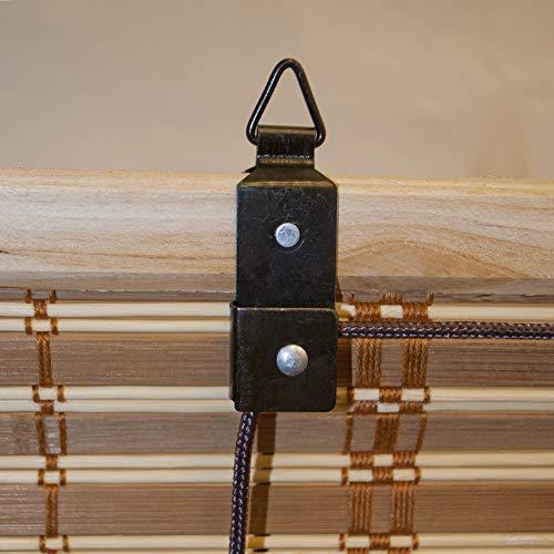 ALEKO Brown Bamboo Roman Roll Up Shades Privacy