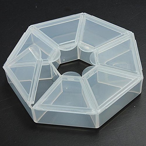Nail Tools - Clear Beads Display Organiser Storage Containers Case - Beads Display Case - 1PCs