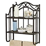 STS Above Toilet Storage Cabinet Wall Mount Storage Space Saver Bathroom Practical Indoor Open Racks Bathroom Organizer Furniture & Ebook by Easy2Find.