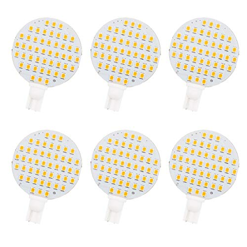 GRV T10 921 194 48-2835 SMD Wedge LED Bulb lamp Super Bright AC/DC 12V-24V Pack of 6 (Warm White)