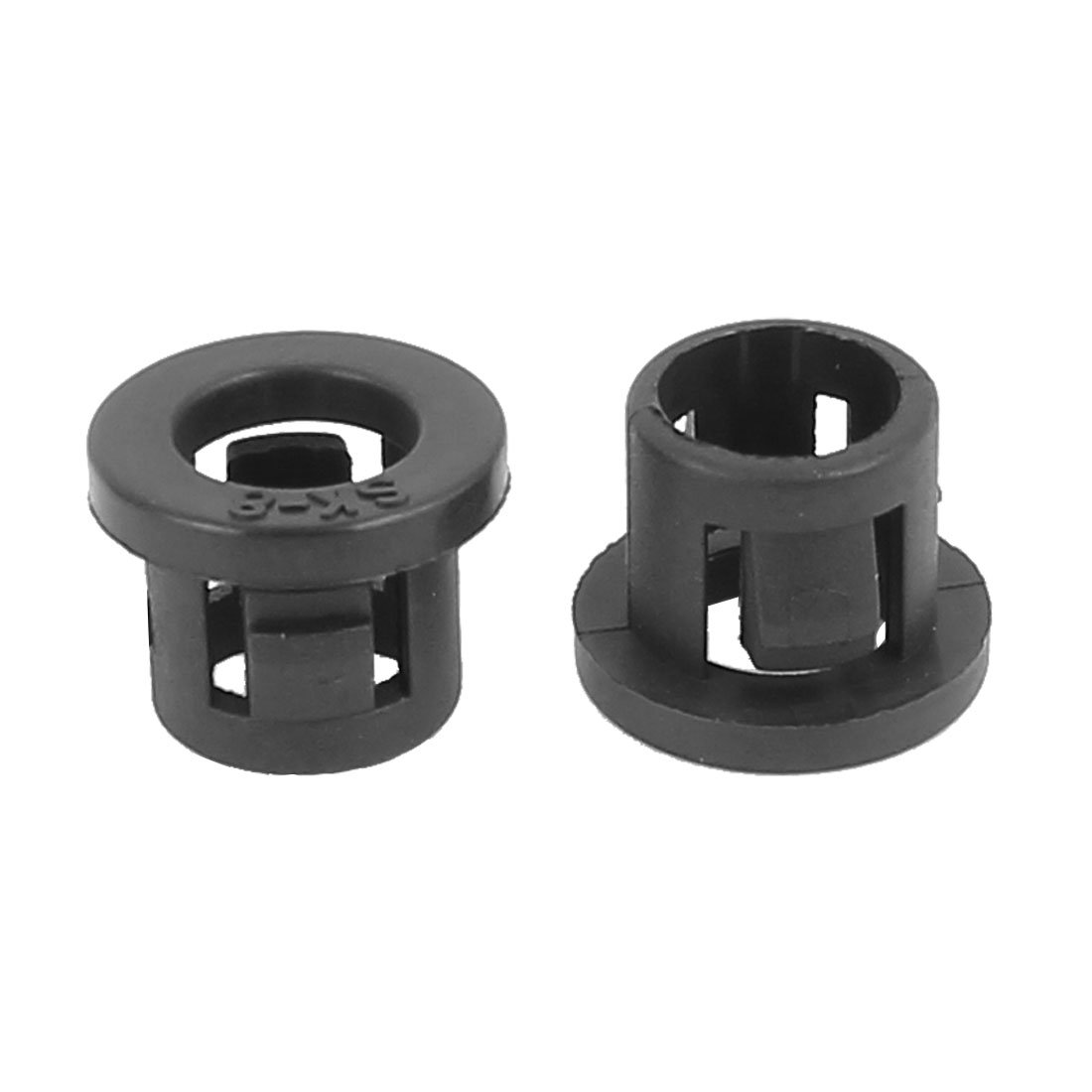 uxcell 15pcs 30mm Mounted Dia Cable Hose Snap Bushing Grommet Protector Black