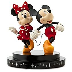 Disney New 25th Anniversary Minnie and Mickey Mouse Figurine