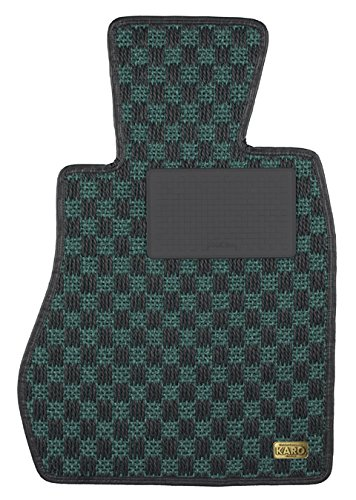 KARO(カロ) フロアマット SISAL グリーン/ブラック トヨタ カローラレビンスプリンタートレノ 0022(一台分) B00NUV75M2 SISAL×グリーン/ブラック SISAL×グリーン/ブラック