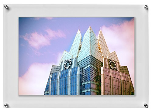 Wexel Art 23x27-Inch Double Panel Clear Acrylic Floating Frame with Silver Hardware for Up to 20x24-Inch Art & Photos by Wexel Art