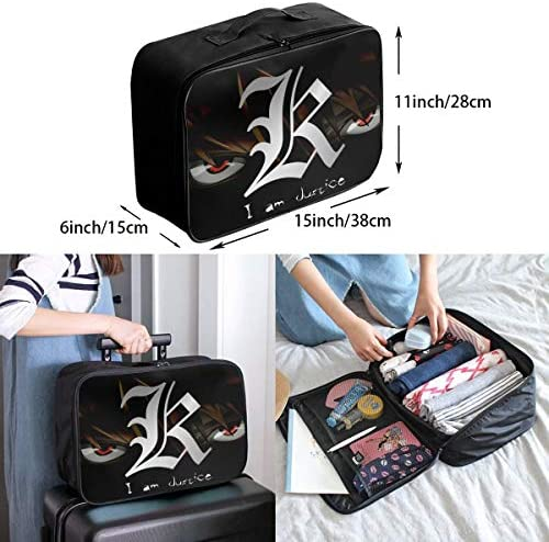 D-eath N-ote Logo Customize Casual Portable Travel Bag Suitcase Storage Bag Luggage Packing Tote Bag Trolley Bag