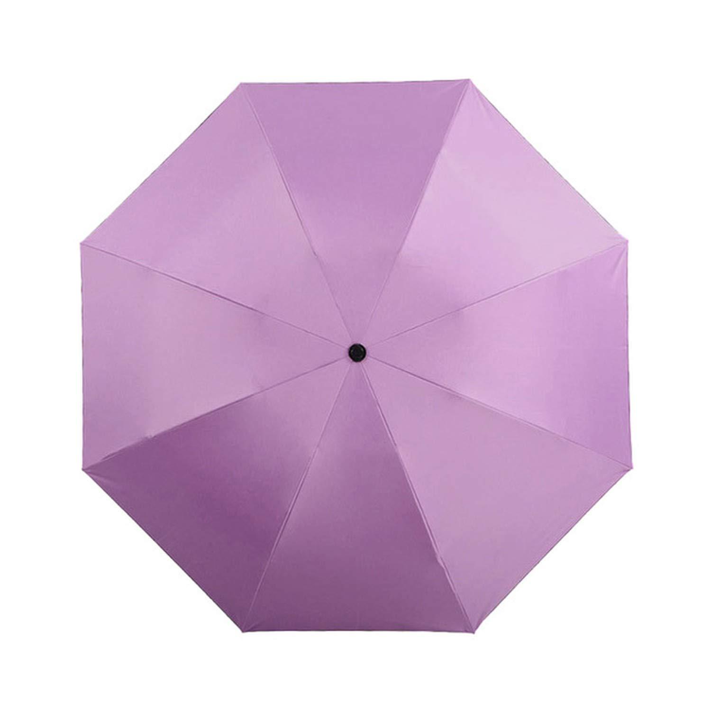 Automatic Reverse Umbrella Rain Women Black Coating Fashion Color Inverted Chuva Umbrella For Man 3 Folding Sunny Automatic,purple,Russian Federation Fantastic-Journey SB-122