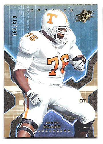 ARRON SEARS 2007 SPX #117 GOLD Parallel ROOKIE Card RC #643 of only 699 Made! Tampa Bay Buccaneers Tennessee Volunteers Football