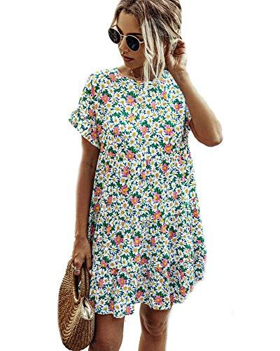 Floral Loose Pleated Mini Dress