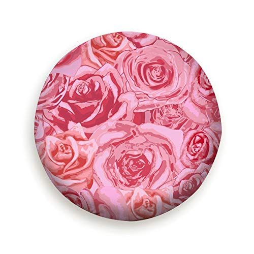 (DIYAB Beautiful Bright Pink Rosebuds Lovely Spare Tire Cover, Waterproof Dust-Proof Thicken Wheel Protectors Covers Fit 14-17 Inch 16 Inch)