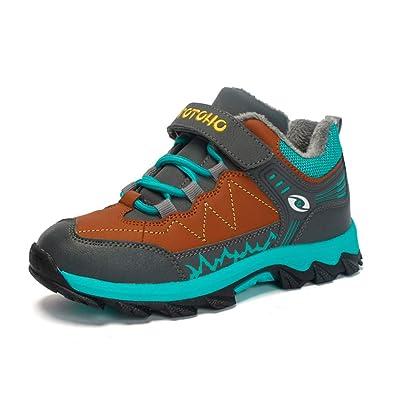 factory price 3e0c3 99c63 Kinder Wanderschuhe Jungen Warm Gefüttert Winterschuhe Trekking Outdoor  Schuhe mit Klettverschluss Gr.31-39