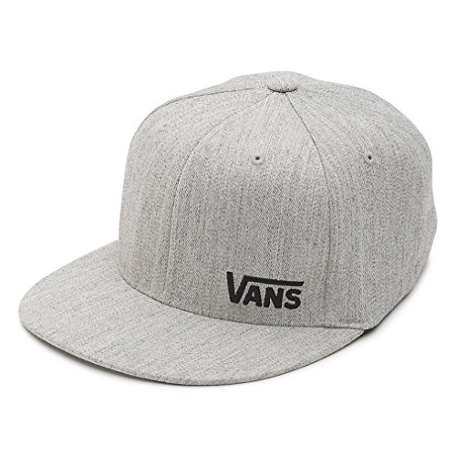 b575ff050 Vans Heather Grey Splitz Flat Peak Flexfit Cap (L/XL , Grey) - Buy ...