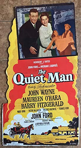 The Quiet Man (1952) Very Rare U.S. National Screen Service Lobby Standee 32.5 X 58.5 JOHN WAYNE MAUREEN O'HARA Film directed by JOHN FORD