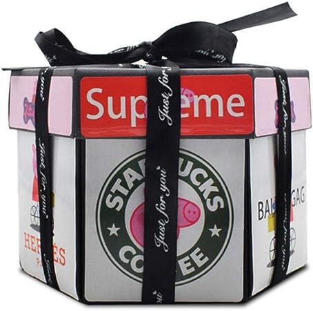 Explosion Box, Regalo Creativo DIY Hecho a Mano Album de Fotos Caja Sorpresa, Love Memory, para Cumpleaños Aniversario Boda San Valentín Día de la Madre (Negro): Amazon.es: Hogar