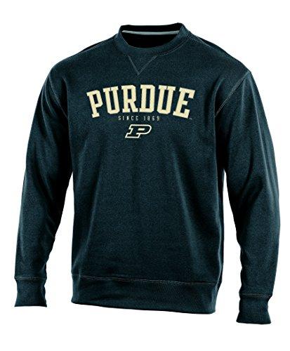 NCAA Purdue Boilermakers Adult Men Crew Neck Fleece, Medium, Black