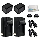 2 Replacement BP-727 Battery Packs for Canon VIXIA HF R30, HF R32, HF R300, HF M50, HF M52, HF M500, HF R40, HF R42, HF R400 Camcorders Includes: 2 Replacement BP727 Battery Packs + Rapid Travel Charger