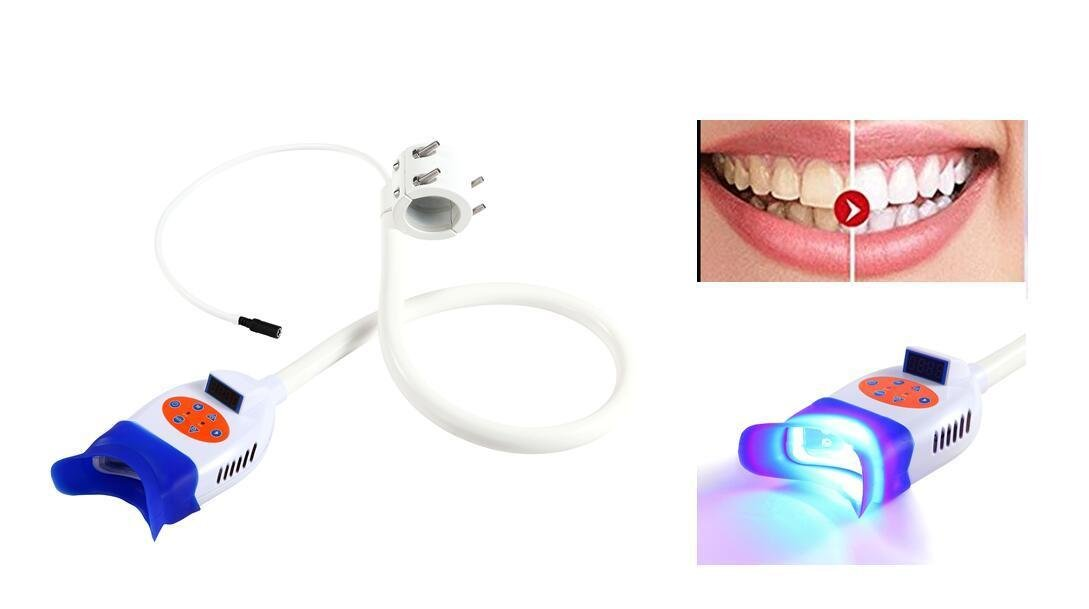 Zgood Portable Teeth Whitening Cold LED Blue And Red Light Lamp Bleaching Accelerator Holding Chair