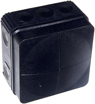 WISKA BOX COMBI 308//5//S BLACK WEATHERPROOF EXTERNAL OUTDOOR JUNCTION BOX IP66