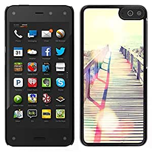 LECELL--Funda protectora / Cubierta / Piel For Amazon Fire Phone -- Verano Miami Mar Mar Beach --