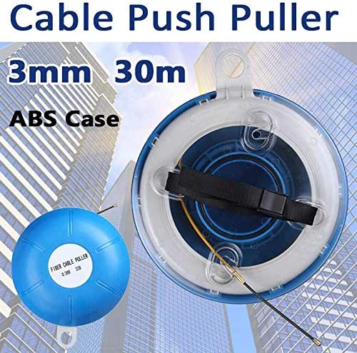 Fiberglass Fish Tape Reel Puller Conduit Duct Rodder Pulling Wire Cable 30M