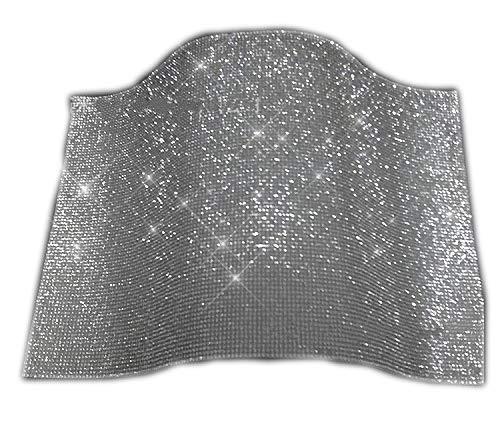 Yalulu 2440cm Self Adhesive Bling Glass Rhinestone Trim Crystal Hotfix Iron On Strass Mesh Banding Sticker DIY Decoration