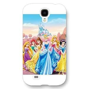 UniqueBox Customized Disney Series Phone Case for Samsung Galaxy S4, Disney Princess Samsung Galaxy S4 Case, Only Fit for Samsung Galaxy S4 (White Frosted Shell) WANGJING JINDA