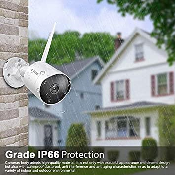 Outdoor Security Camera – HD 2K 3MP Bullet Camera 2.4G IP66 Waterproof 50ft Night Vision Home Surveillance IP Camera Two-Way Audio, Motion Detection Alarm Recording, Set of 2 with 64GB SD Card