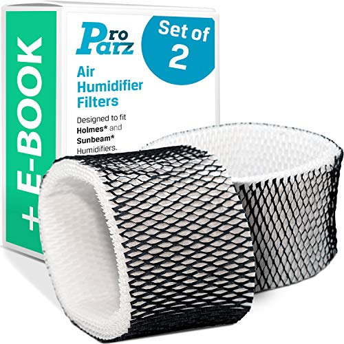 Air Humidifier Filter Replacements - Pack of 2 ''A'' Filters Compatible with Holmes & Sunbeam - Includes Bonus E-Book - Compare to Part # HWF62, HWF62D (Holmes Humidifier Parts)
