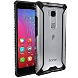 POETIC Affinity Series Thin Dual Material Protective Bumper Case for Huawei Honor 5X (2016) - Black with Clear PC