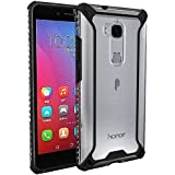 Huawei Honor 5X Case, POETIC Affinity Series Premium Thin/No Bulk/ protection where its needed/Clear/Dual material Protective Bumper Case for Huawei Honor 5X (2016) Black/Clear