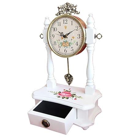 Sólido Reloj De Mesa De Madera - + Reloj del Reloj del Metal ...