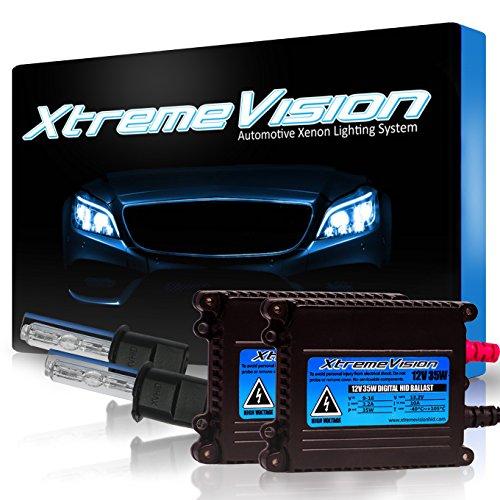 (XtremeVision DC 35W Xenon HID Lights with Premium Slim Ballast - H3 30000K - 30K Deep Blue - 2 Year Warranty)