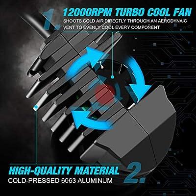 JDM ASTAR K2 High Performance 1:1 Design H11 H8 H16 Bright White Light Output Upgrade Vision LED Headlight Bulbs/Fog Light Bulbs: Automotive