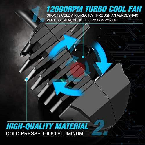 JDM ASTAR K2 12000ルーメン 非常に明るい 1:1 デザイン 9006 オールインワン LEDヘッドライト電球 フォグライト/DRL キセノンホワイト