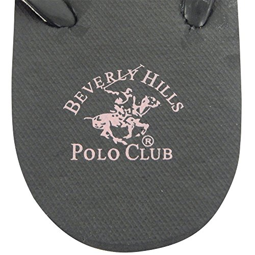 Beverly Hills Polo Club Zebra Glitter Womens Flip Flop Sandal Thong Pink 23huf3mc